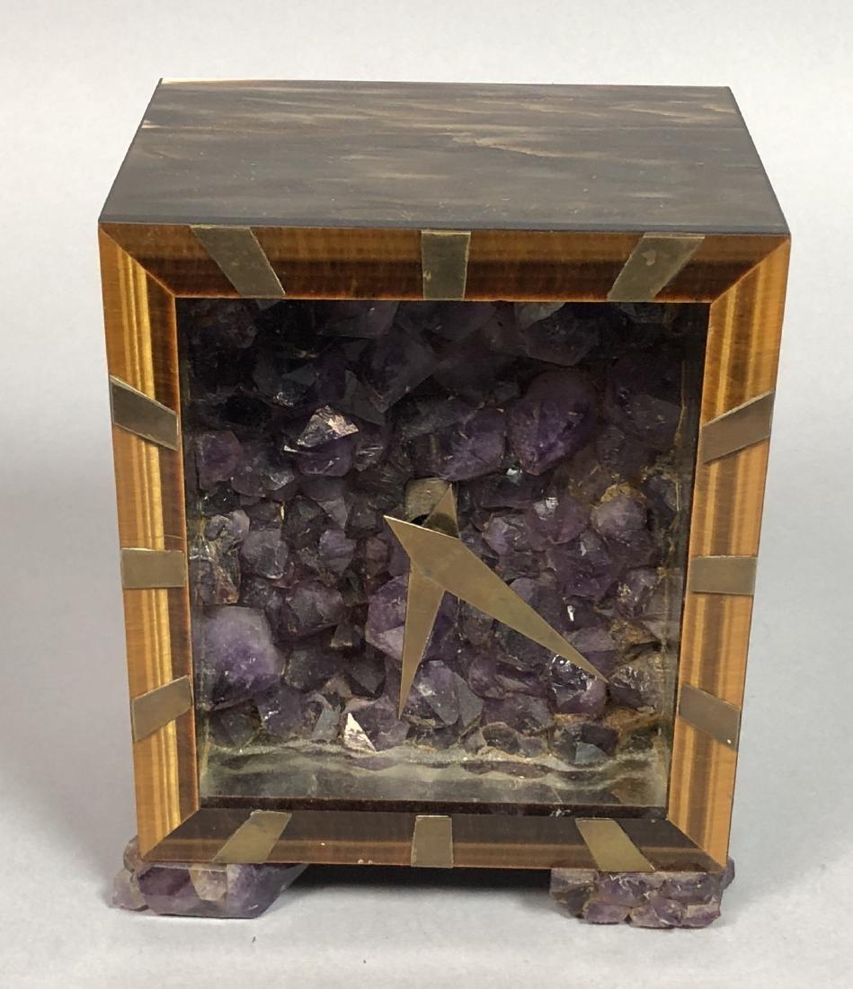 Unique Natural Stone Table Clock. Natural stone c