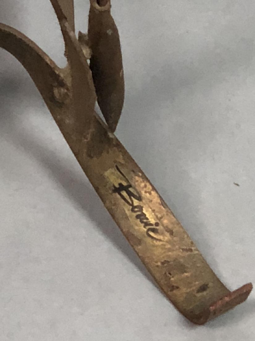 BOWIE Brutalist Metal Rod Flying Bird Sculpture. - 3