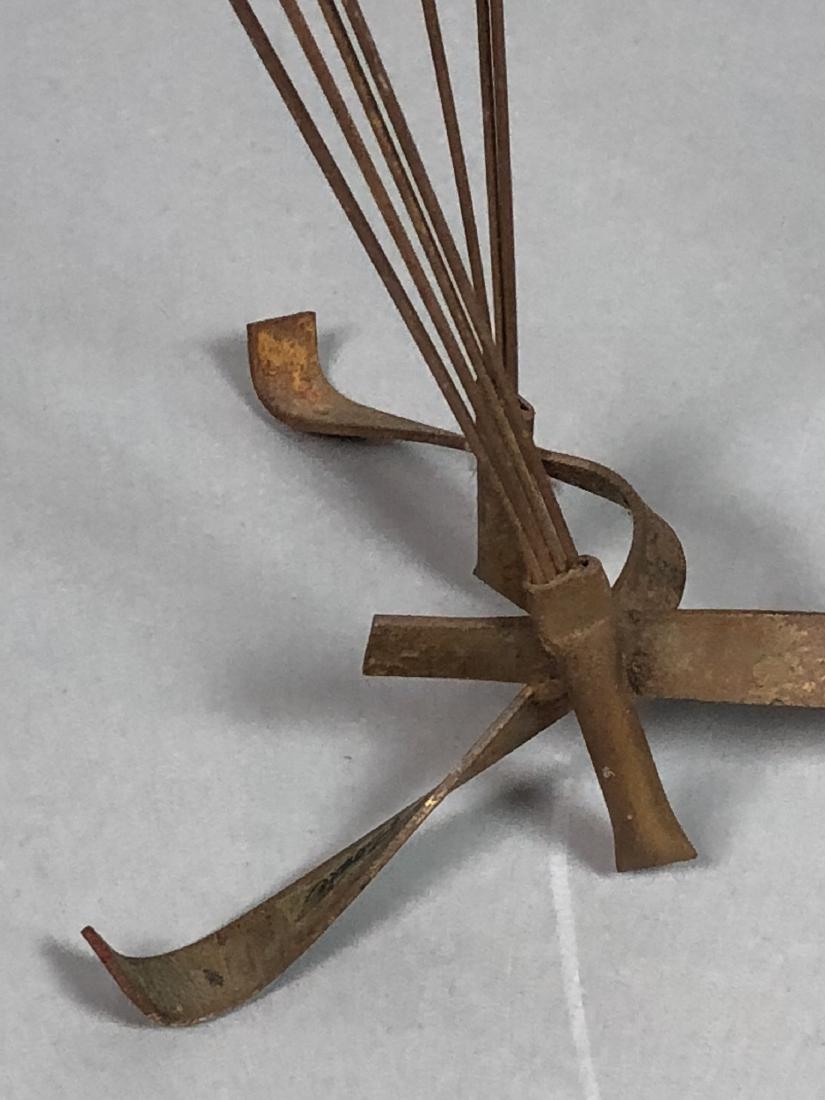 BOWIE Brutalist Metal Rod Flying Bird Sculpture. - 4