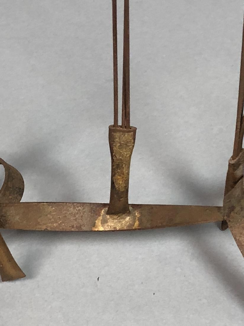 BOWIE Brutalist Metal Rod Flying Bird Sculpture. - 5
