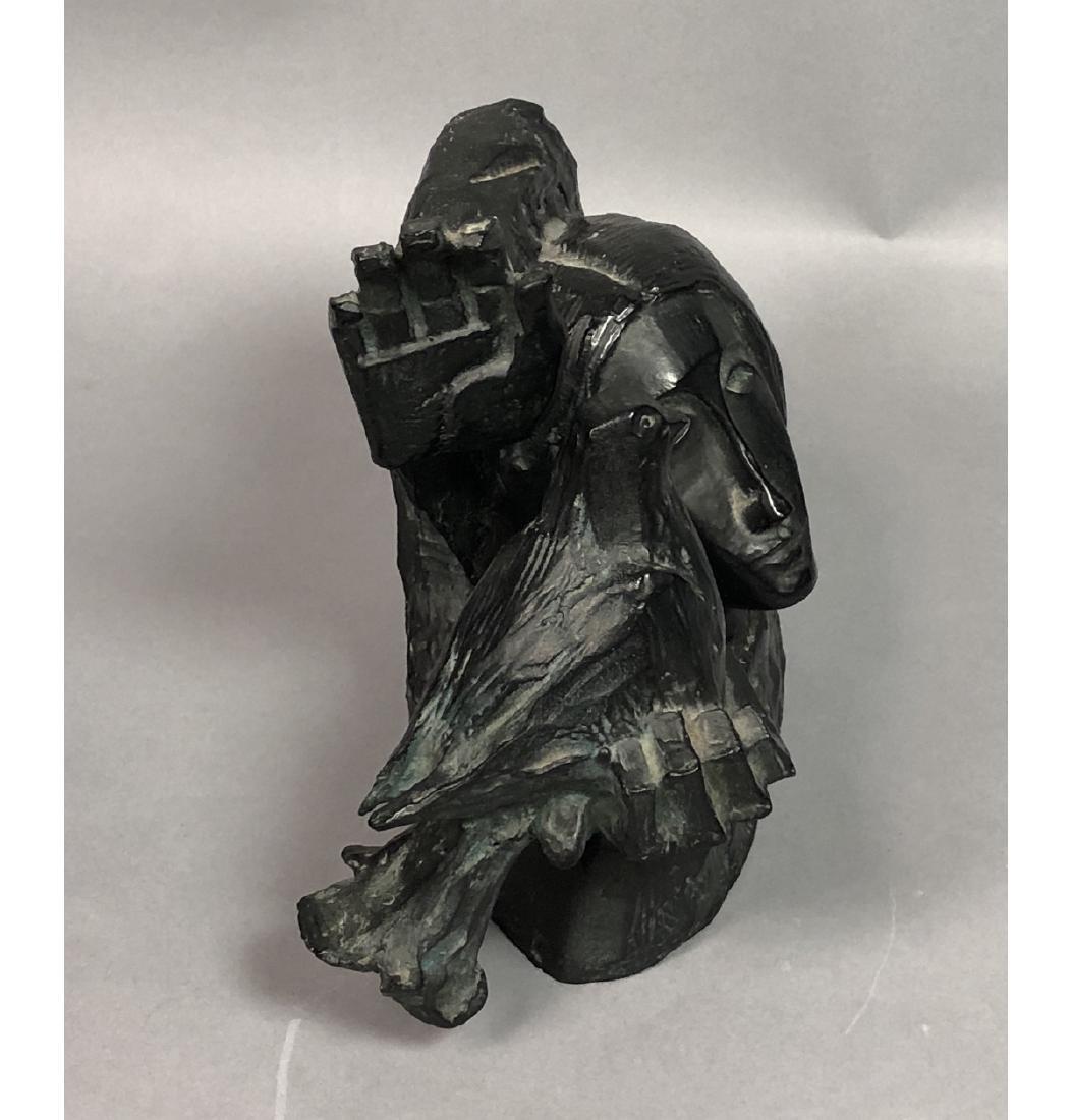 ALVAR Cast Figural Sculpture Woman's Head and Rai - 2