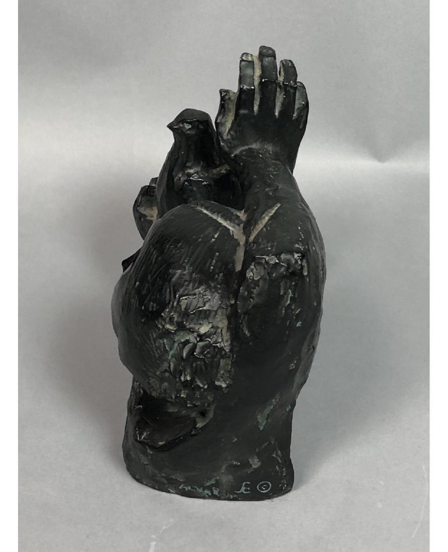 ALVAR Cast Figural Sculpture Woman's Head and Rai - 4