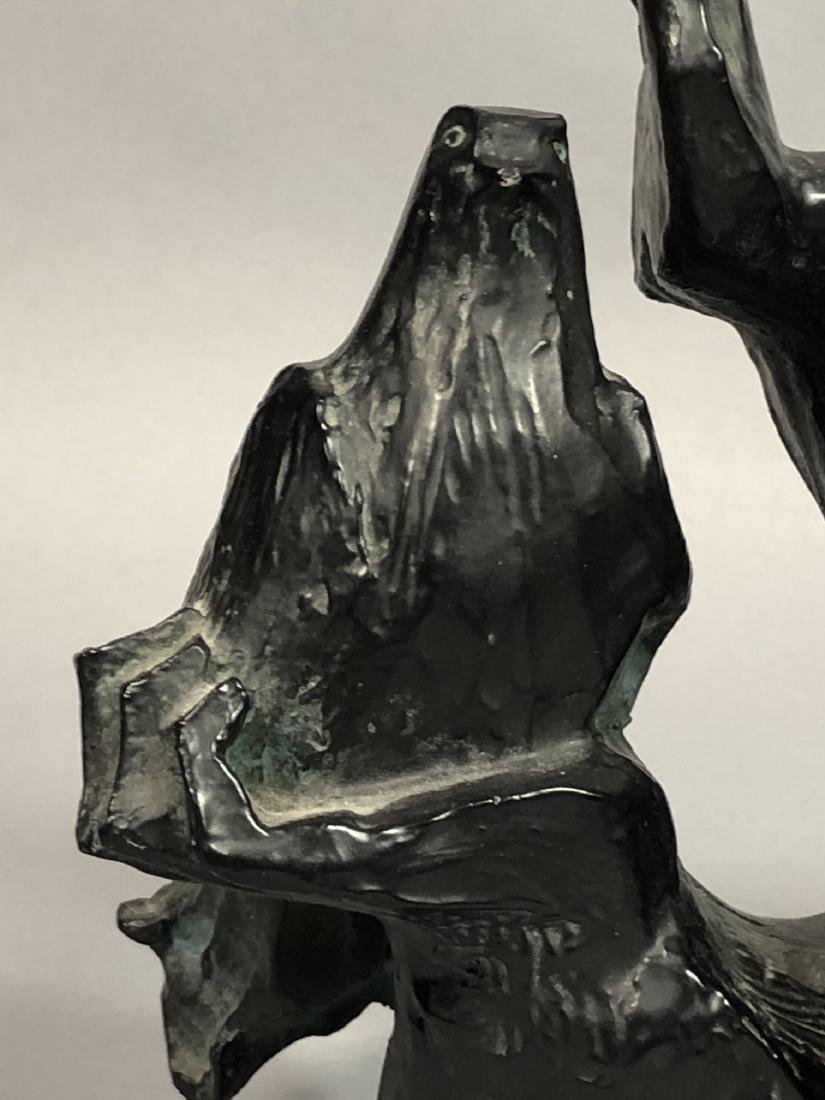 ALVAR Cast Figural Sculpture Woman's Head and Rai - 5