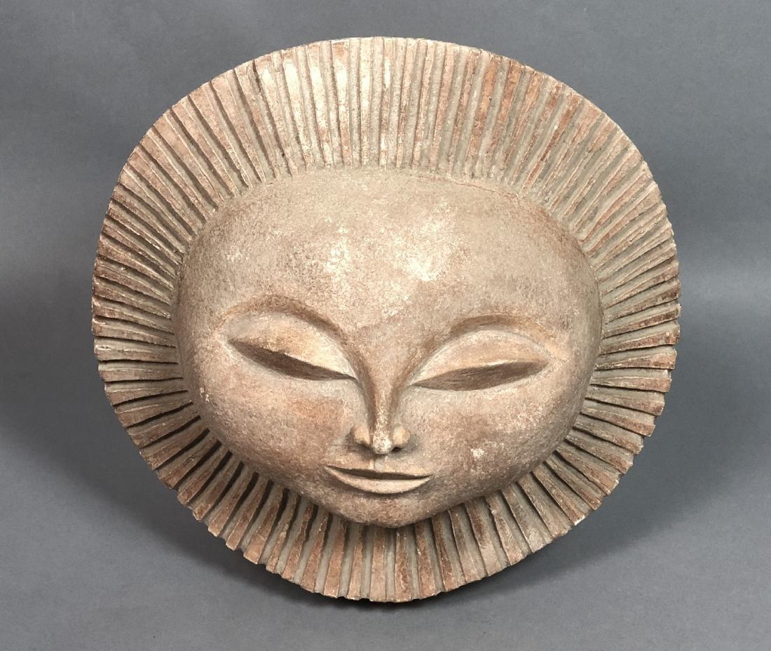 AUSTIN PRODUCTIONS 1969 Sun Face Sculpture. Marke
