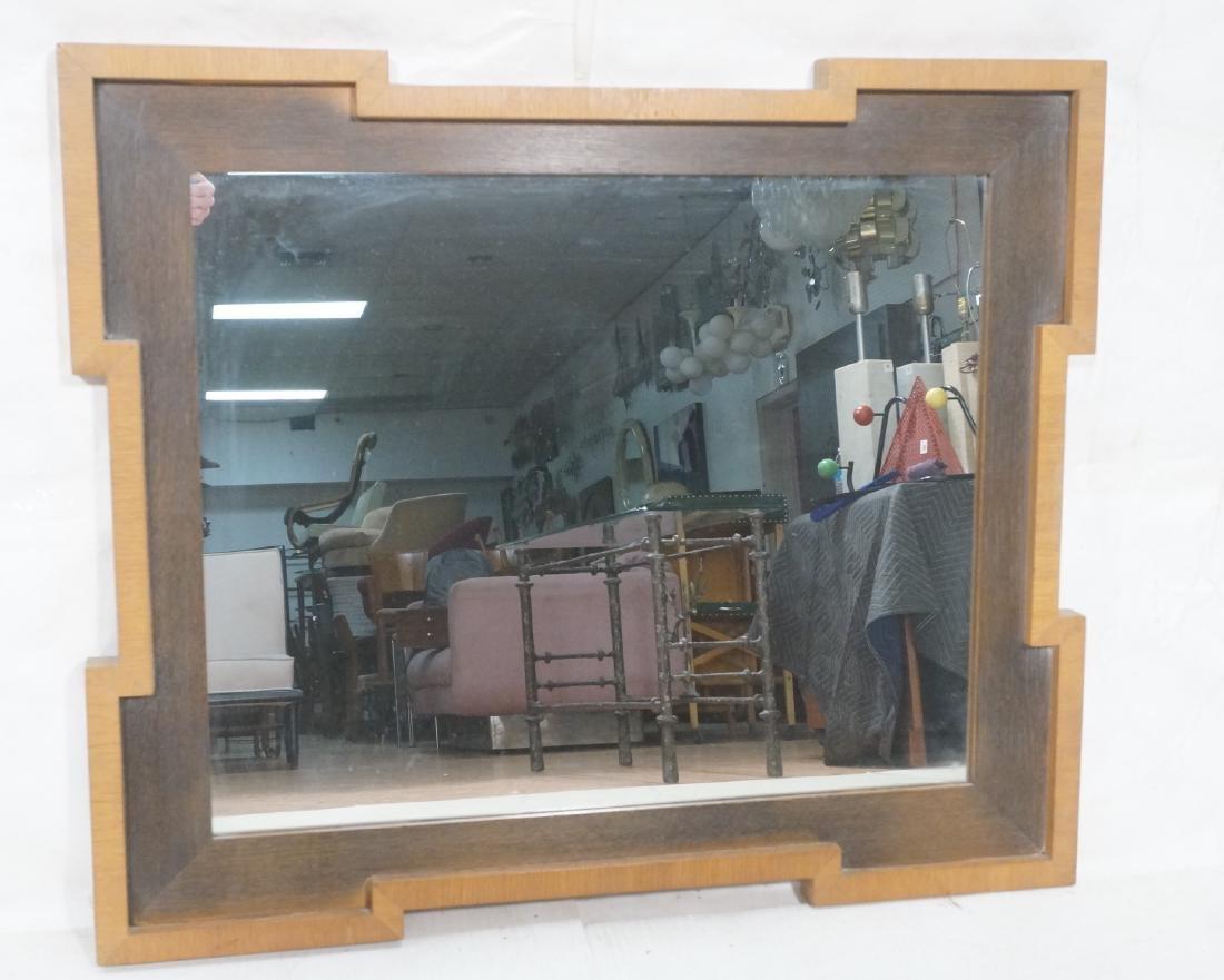 Decorator Wood Framed Modernist Wall Mirror. Flat