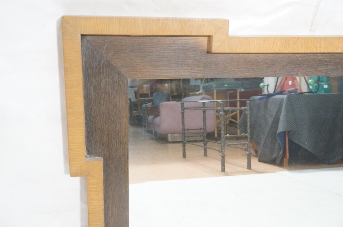 Decorator Wood Framed Modernist Wall Mirror. Flat - 2