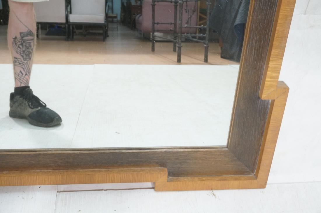 Decorator Wood Framed Modernist Wall Mirror. Flat - 4