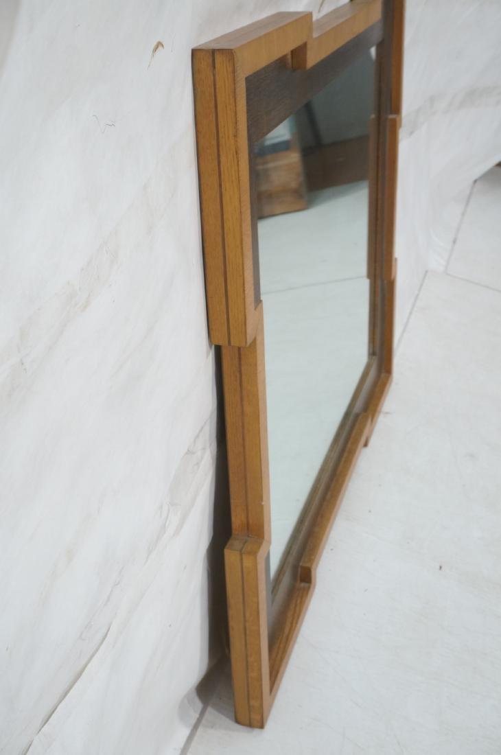 Decorator Wood Framed Modernist Wall Mirror. Flat - 6