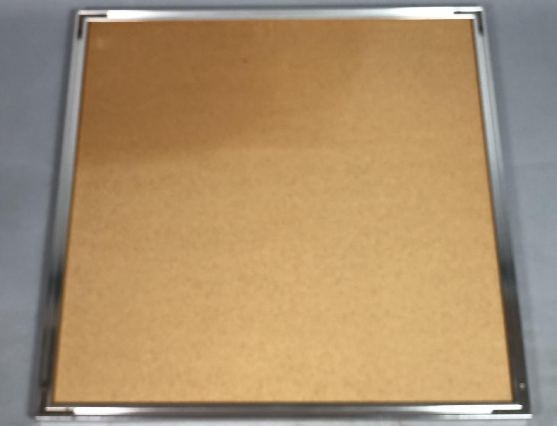 RAY Modernist Silk Screen Print. Silver linear pu - 10