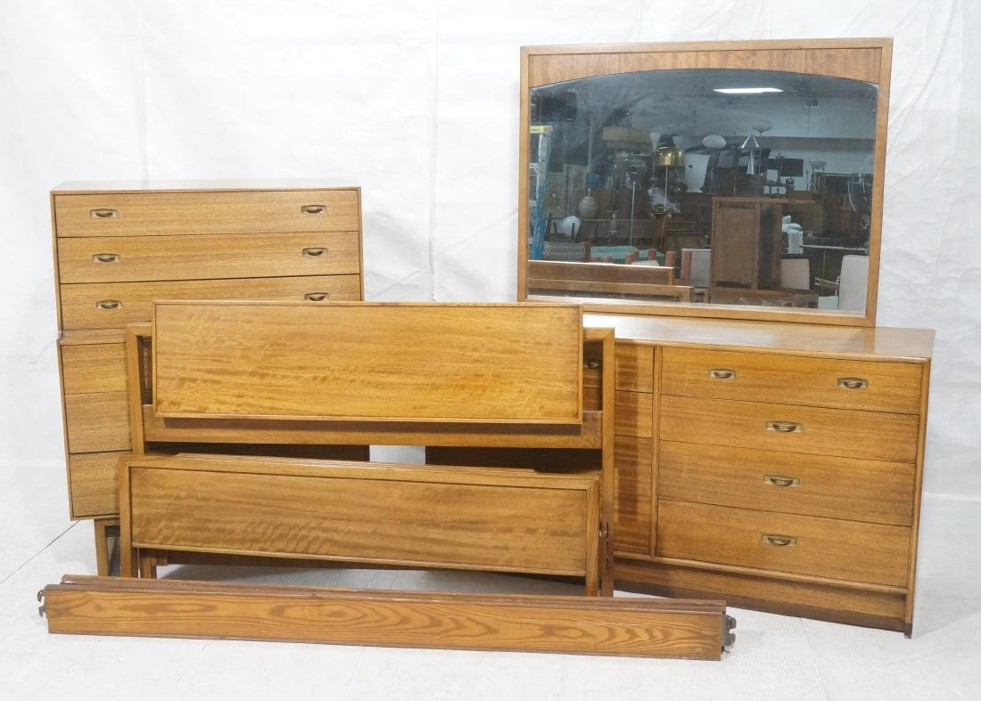 4pc DREXEL American Modern Bedroom Set. Modernist