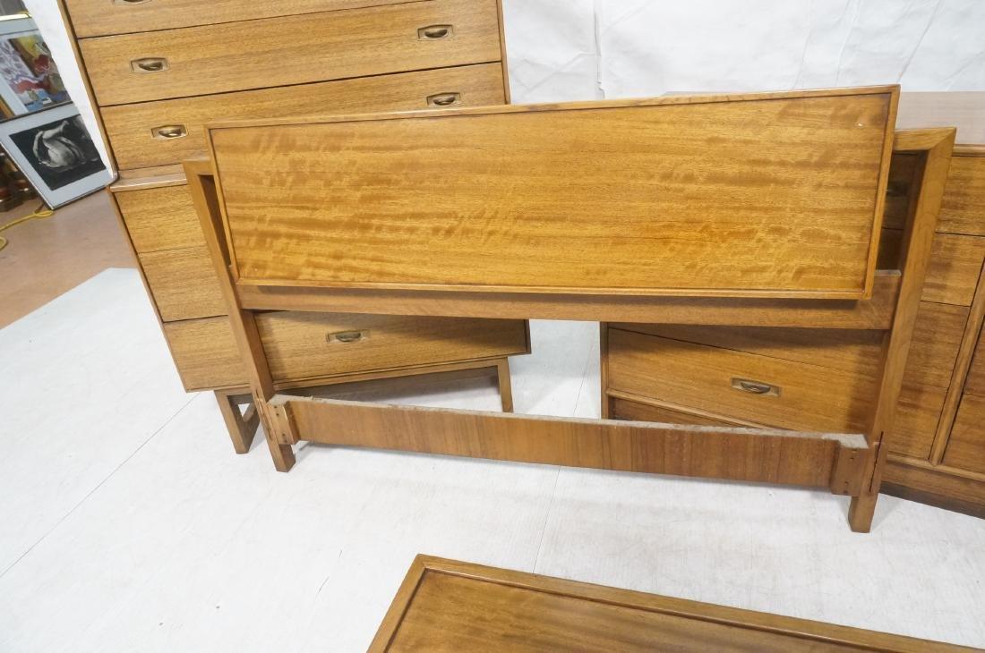 4pc DREXEL American Modern Bedroom Set. Modernist - 4