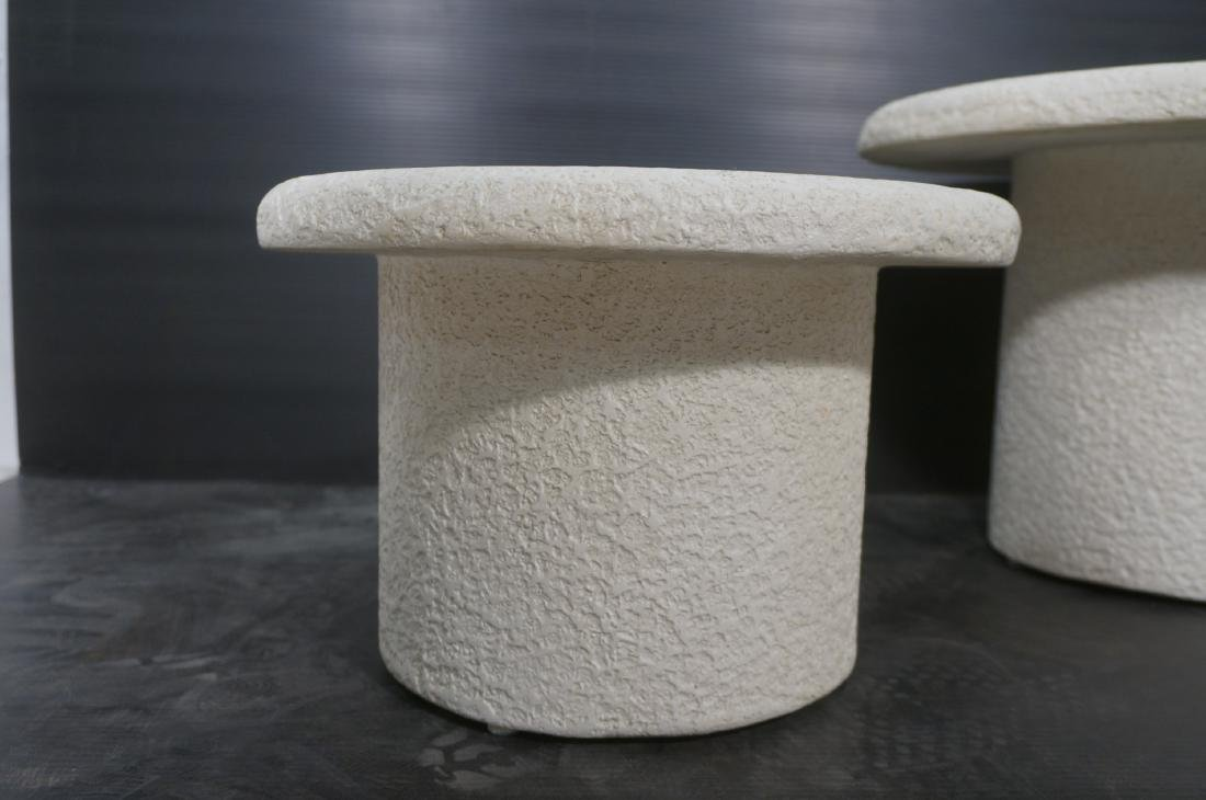 Set 3 Graduated Size Composite Mushroom Tables. M - 3