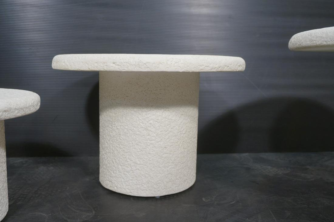 Set 3 Graduated Size Composite Mushroom Tables. M - 5