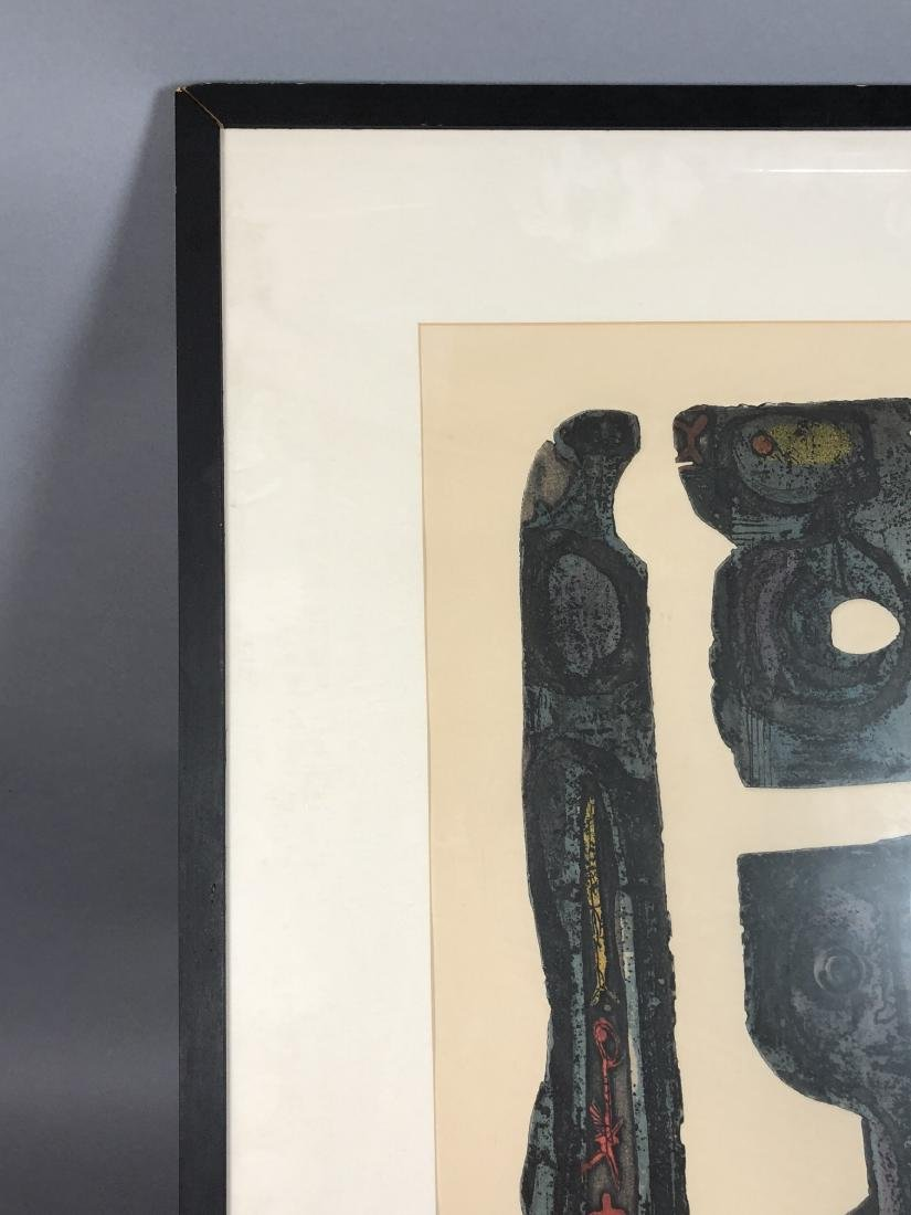 "DICK SWIFT Lithograph Figural Modernist Print. ""P - 3"