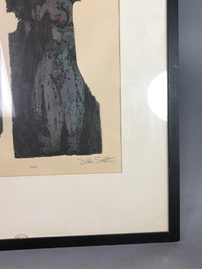 "DICK SWIFT Lithograph Figural Modernist Print. ""P - 6"