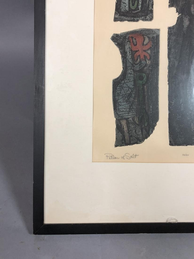 "DICK SWIFT Lithograph Figural Modernist Print. ""P - 7"