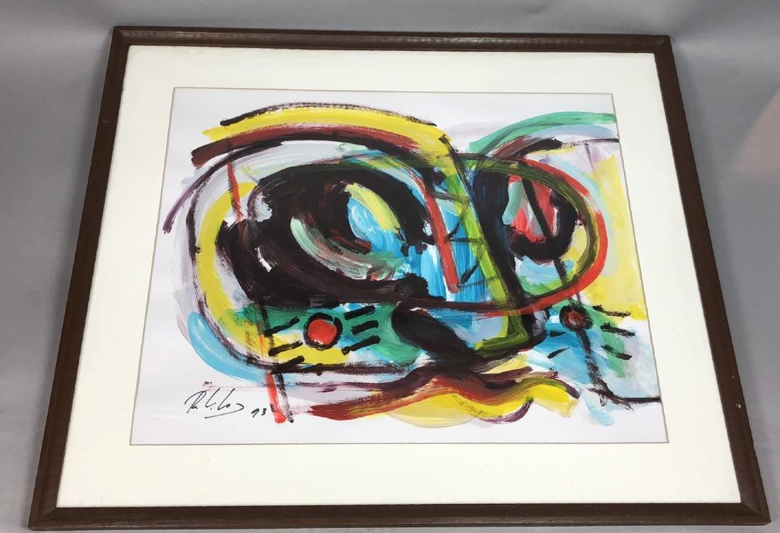 RINALDO KLAS Colorful Fauvist Abstract Painting.