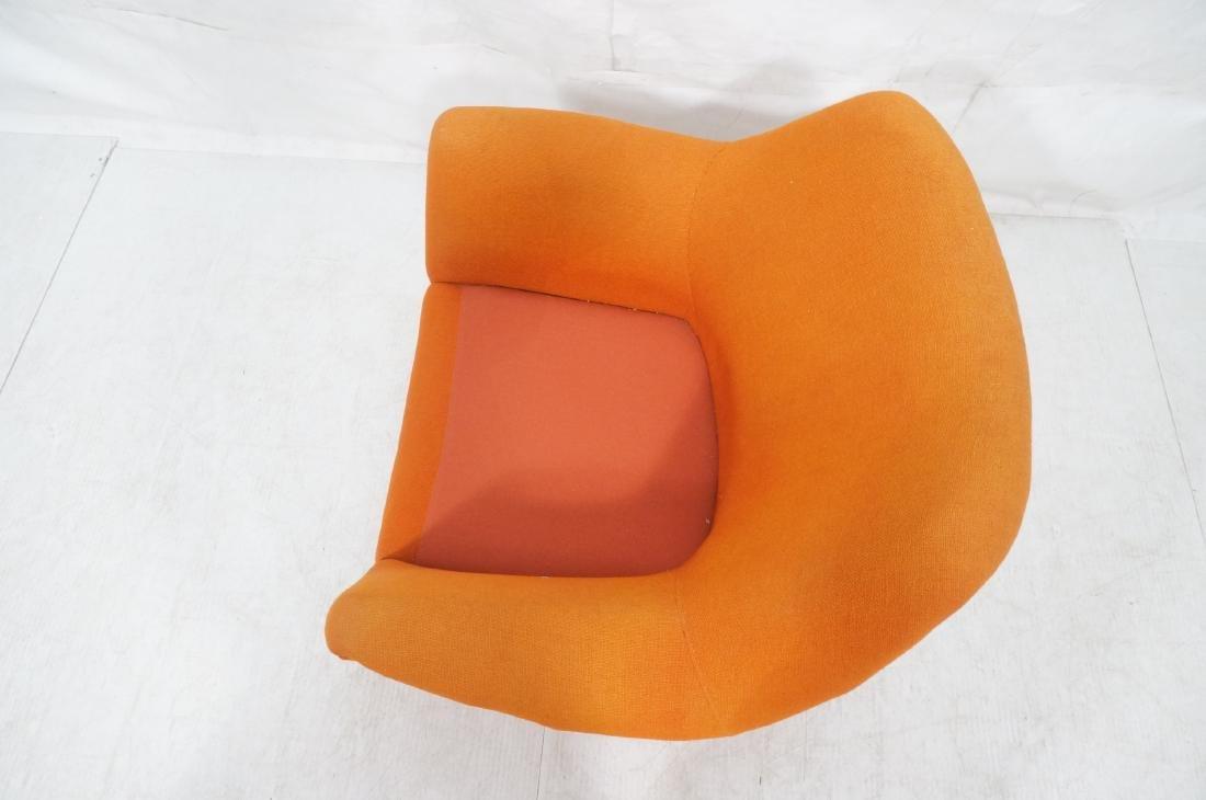 Modernist Lawrence Peabody Orange Fabric Lounge C - 7