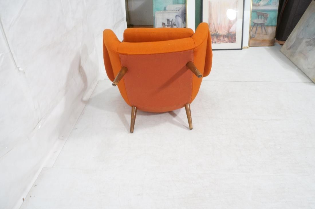 Modernist Lawrence Peabody Orange Fabric Lounge C - 8
