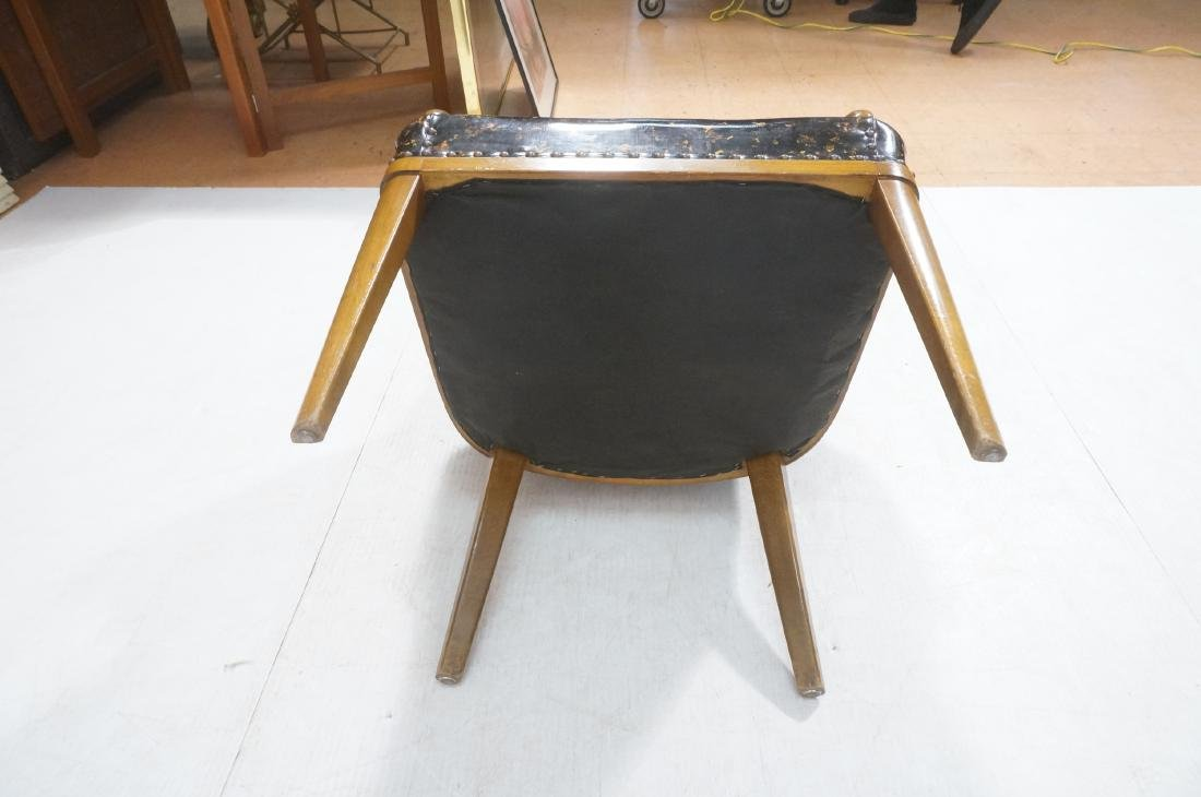 Pr Modernist Tortoise Vinyl Arm Chairs. Metal tac - 9