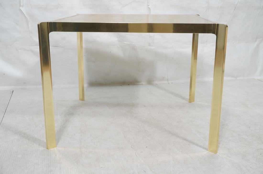 Modernist MILO BAUGHMAN Style Burl Wood Dining Ta - 2