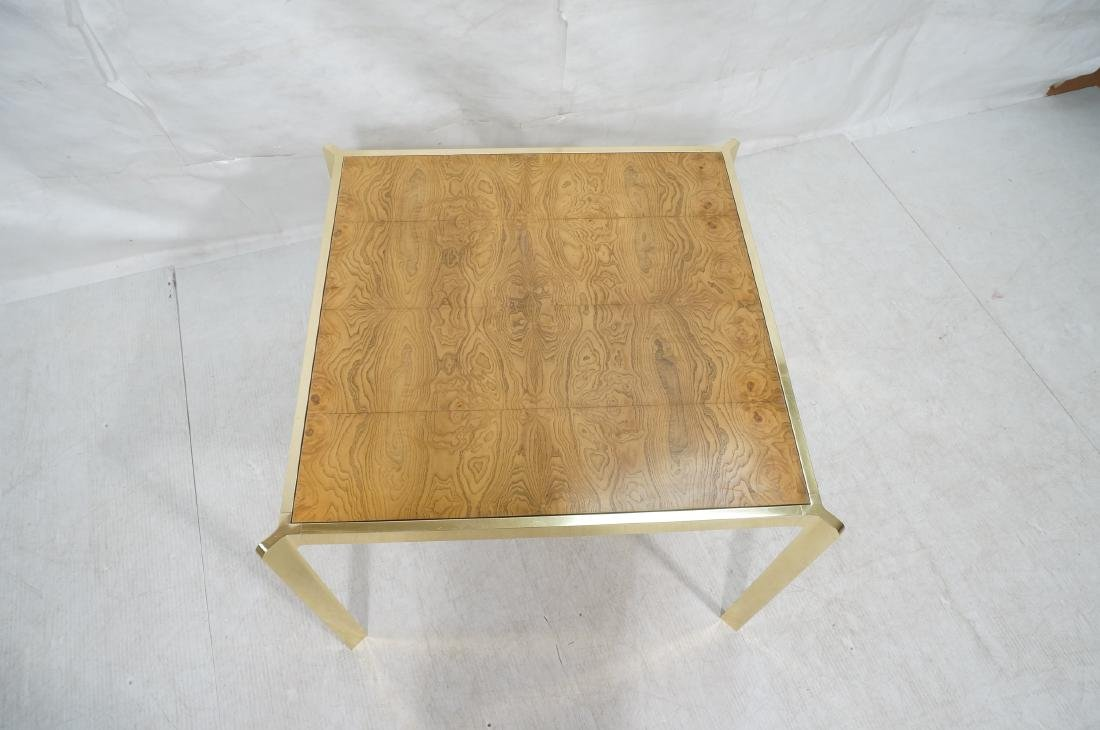 Modernist MILO BAUGHMAN Style Burl Wood Dining Ta - 3