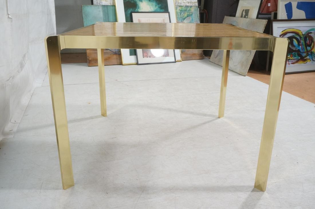 Modernist MILO BAUGHMAN Style Burl Wood Dining Ta - 4