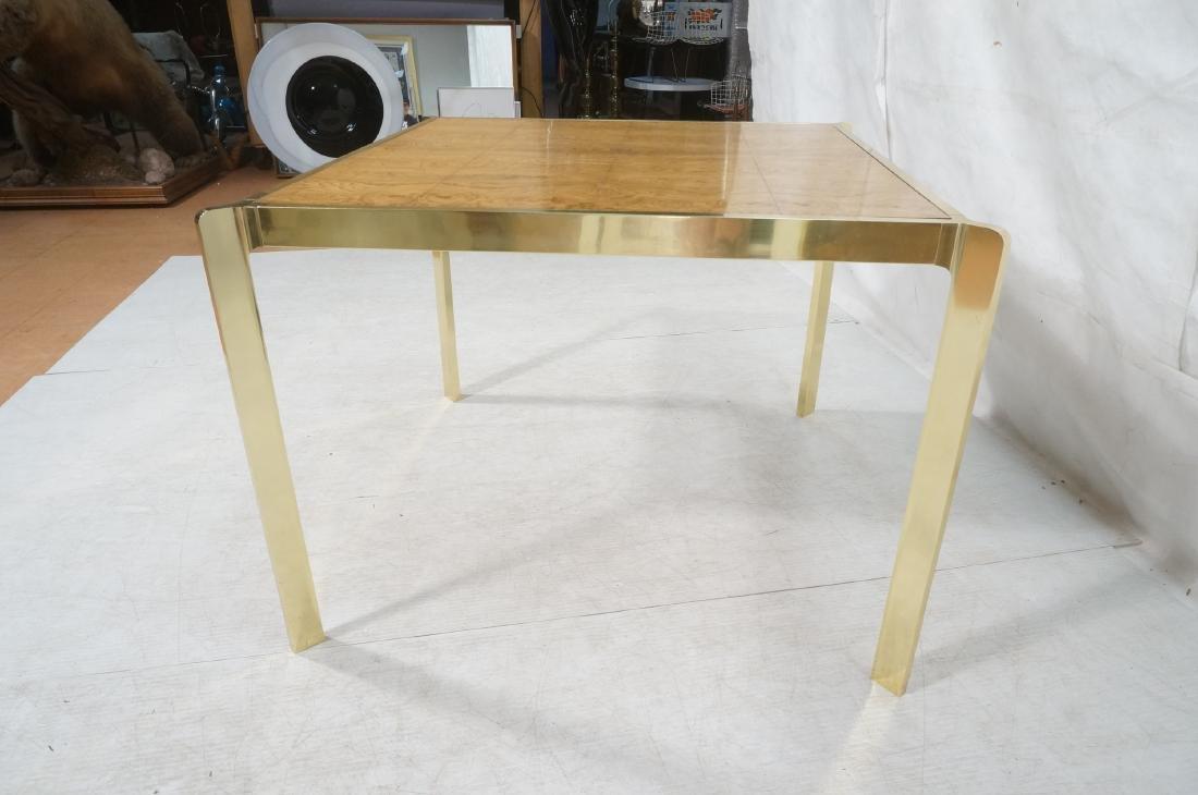Modernist MILO BAUGHMAN Style Burl Wood Dining Ta - 6