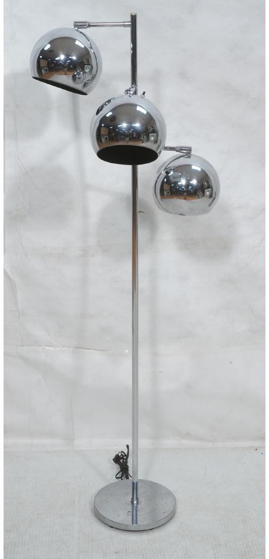 OMI 70s Modern Chrome Ball Floor Lamp. Marked.