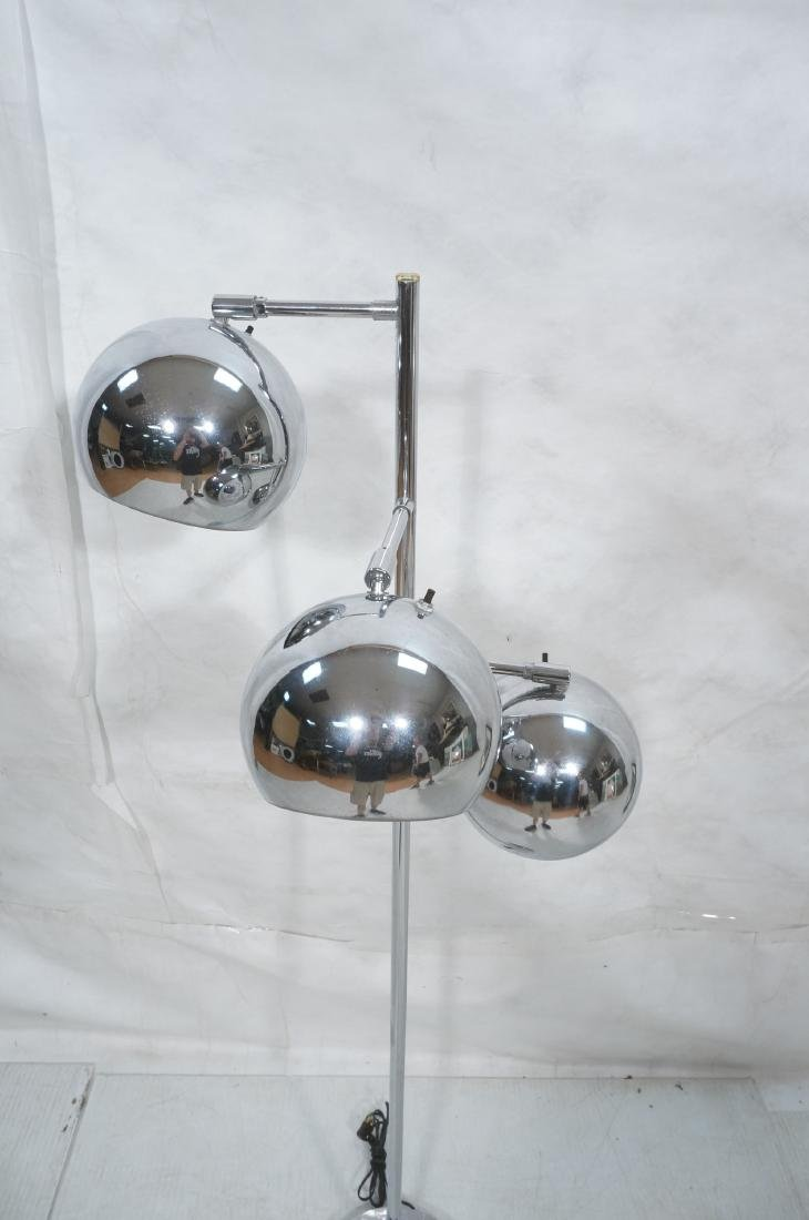 OMI 70s Modern Chrome Ball Floor Lamp. Marked. - 2