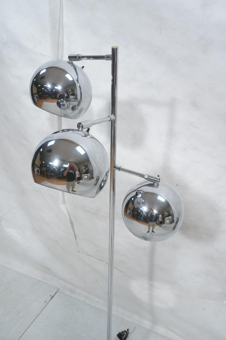 OMI 70s Modern Chrome Ball Floor Lamp. Marked. - 3