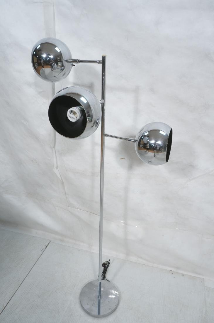 OMI 70s Modern Chrome Ball Floor Lamp. Marked. - 5
