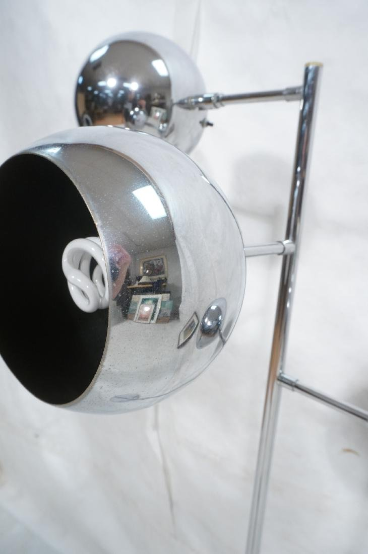 OMI 70s Modern Chrome Ball Floor Lamp. Marked. - 8