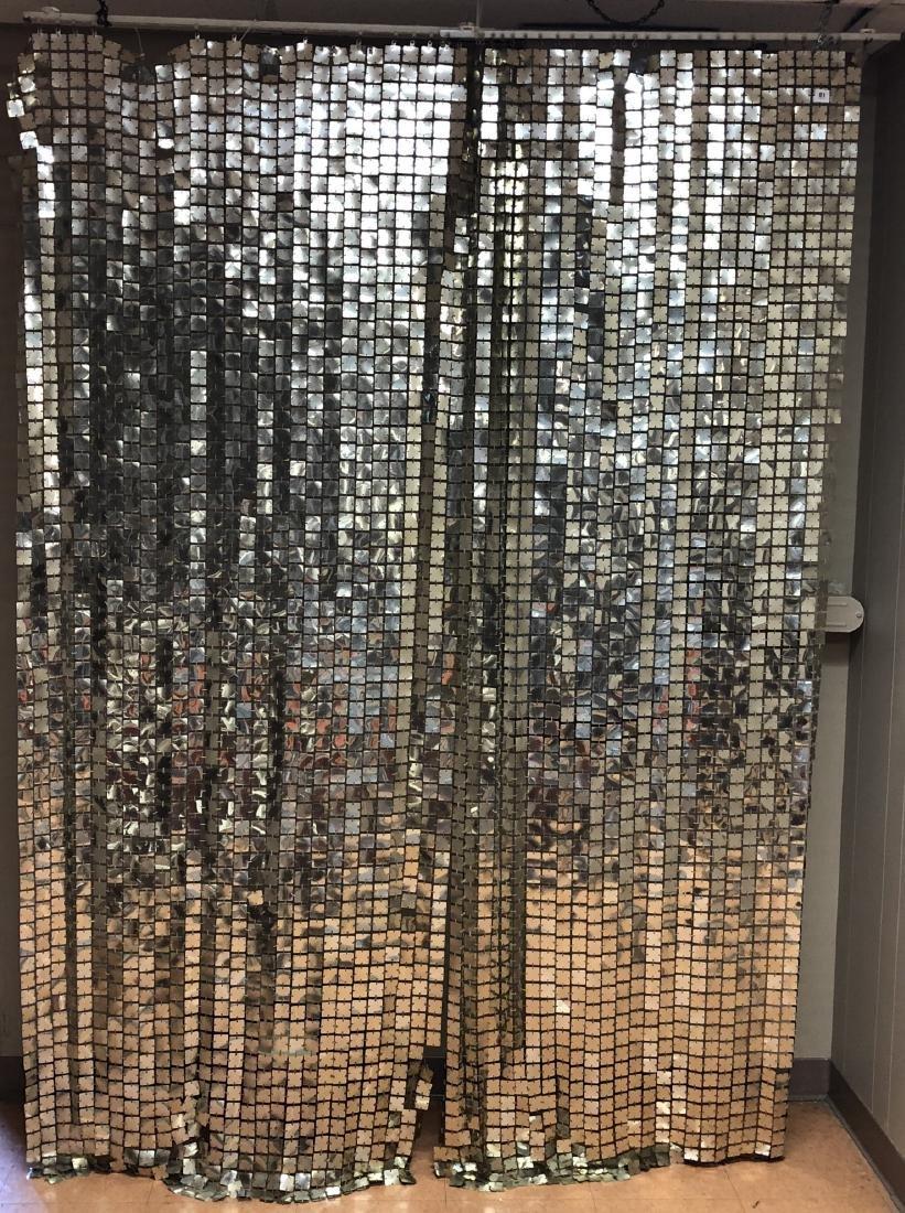 Pr PACO RABANNE Space Curtains. Silver Tile Curta