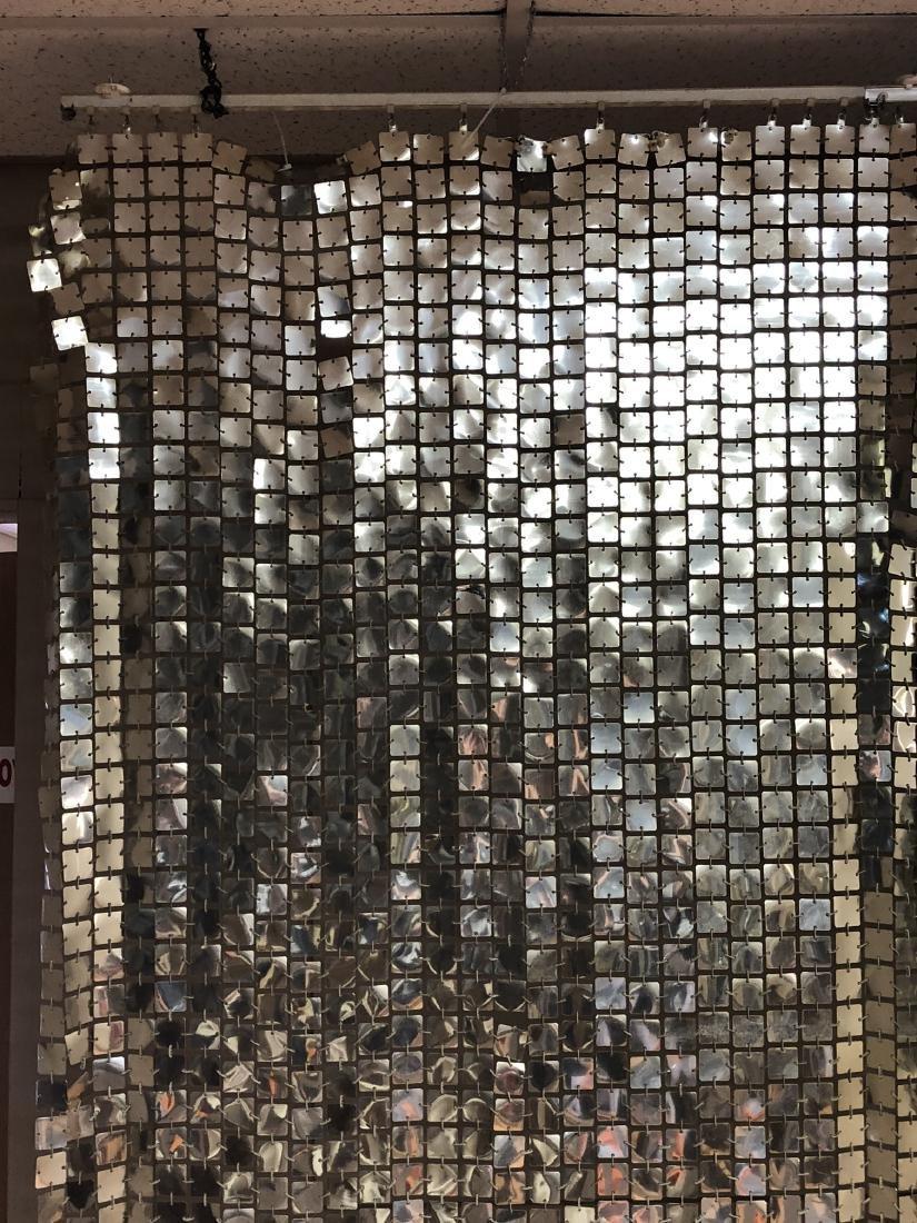 Pr PACO RABANNE Space Curtains. Silver Tile Curta - 2