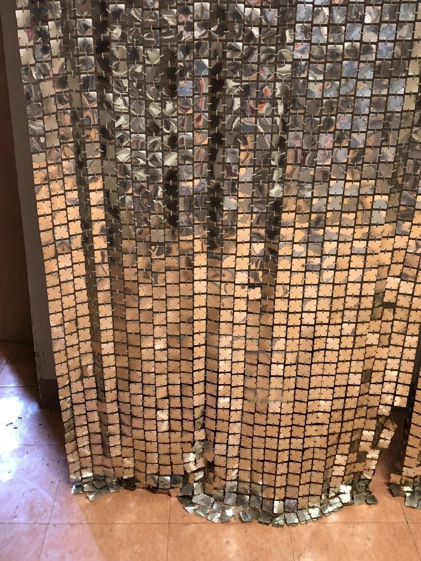 Pr PACO RABANNE Space Curtains. Silver Tile Curta - 3
