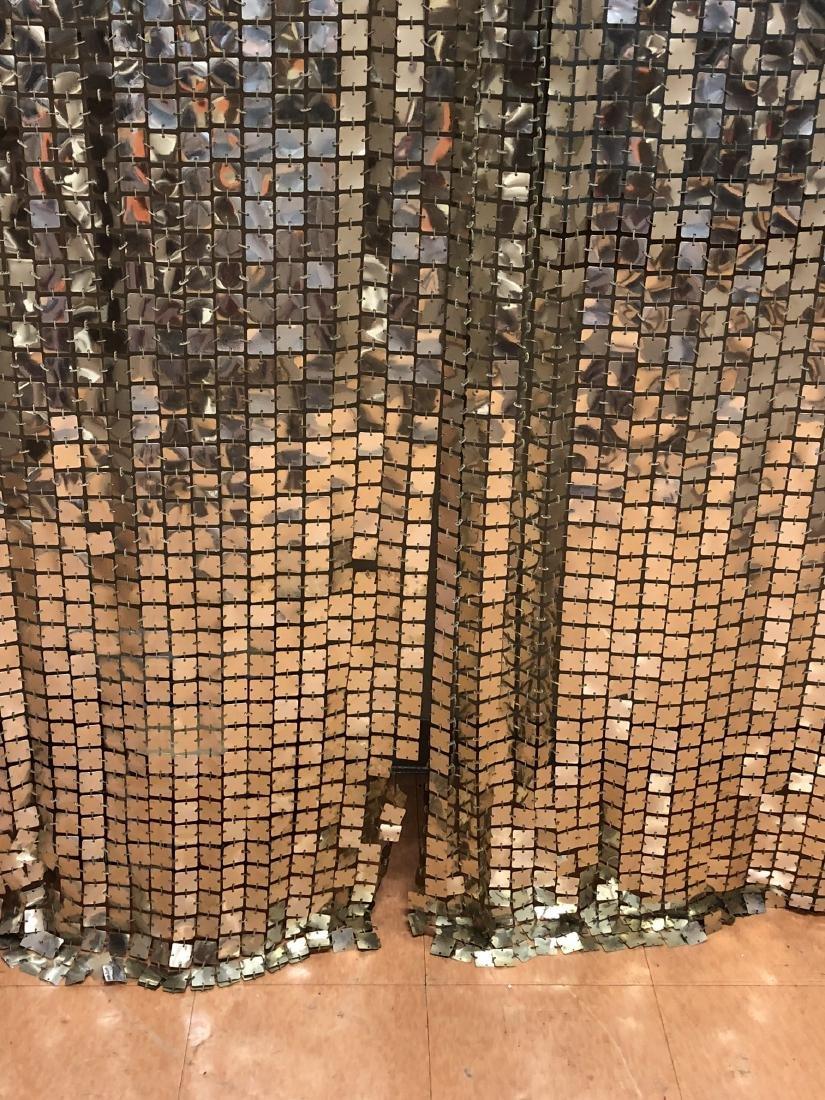 Pr PACO RABANNE Space Curtains. Silver Tile Curta - 4