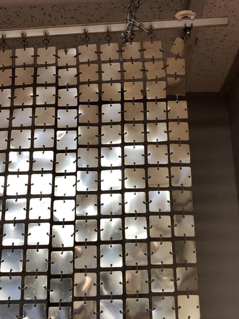 Pr PACO RABANNE Space Curtains. Silver Tile Curta - 6
