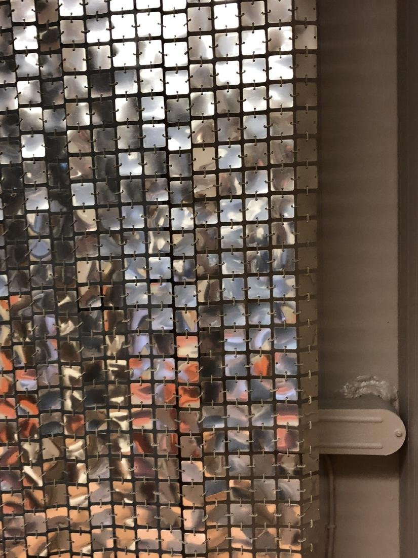 Pr PACO RABANNE Space Curtains. Silver Tile Curta - 7