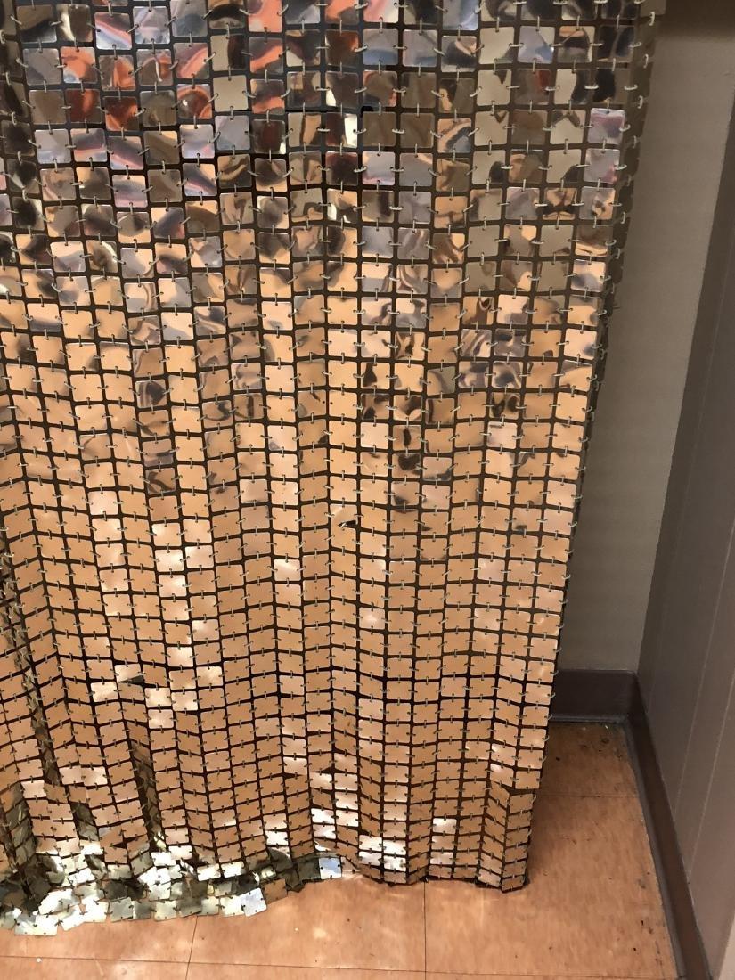 Pr PACO RABANNE Space Curtains. Silver Tile Curta - 8