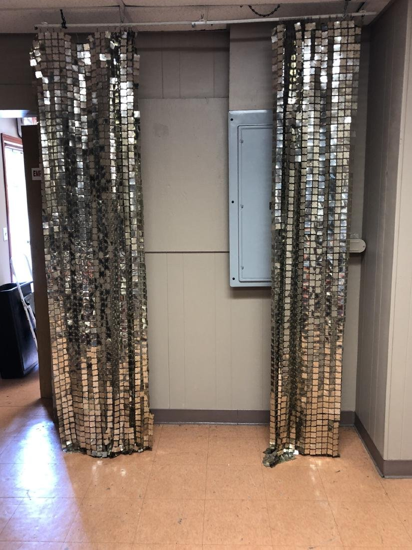 Pr PACO RABANNE Space Curtains. Silver Tile Curta - 9