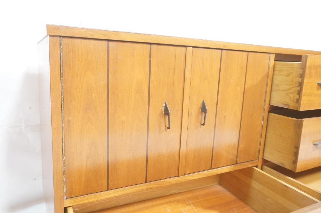 American Modern Walnut Credenza Sideboard. Decora - 9