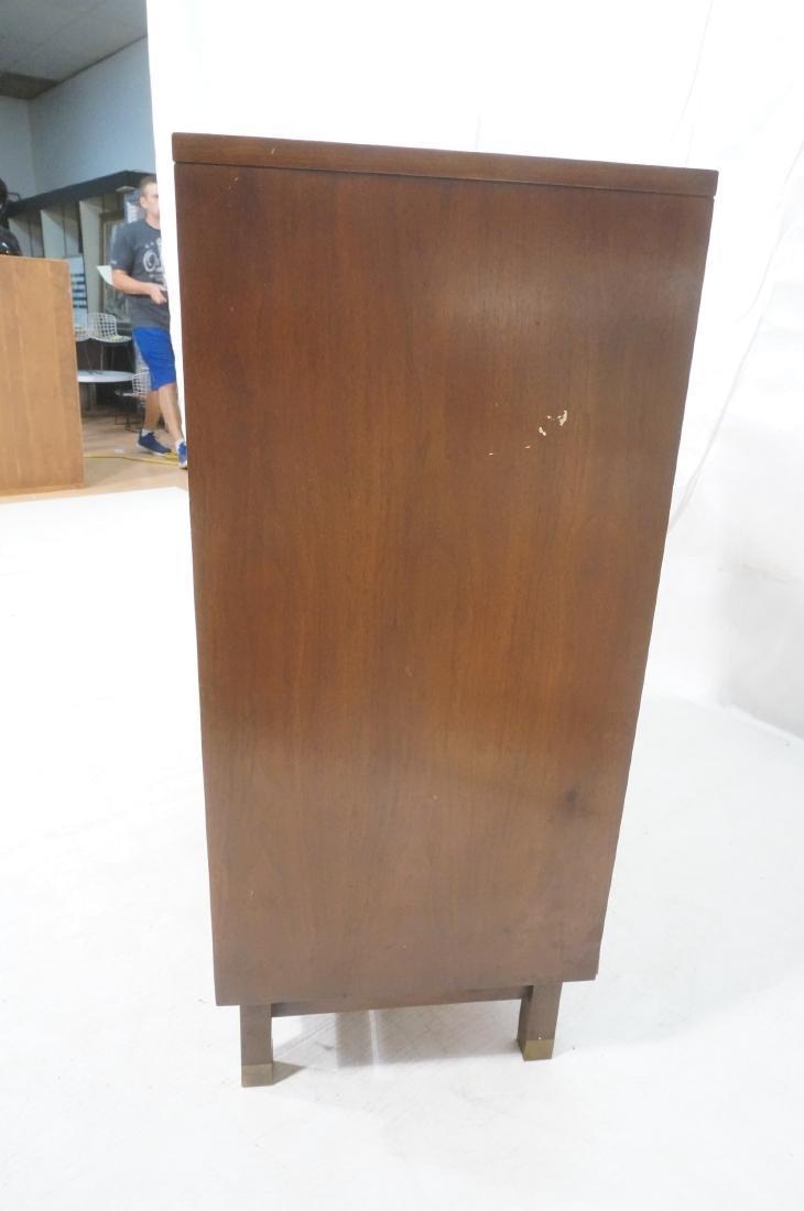 HERITAGE Modernist Walnut Tall Chest. Contrast ba - 3