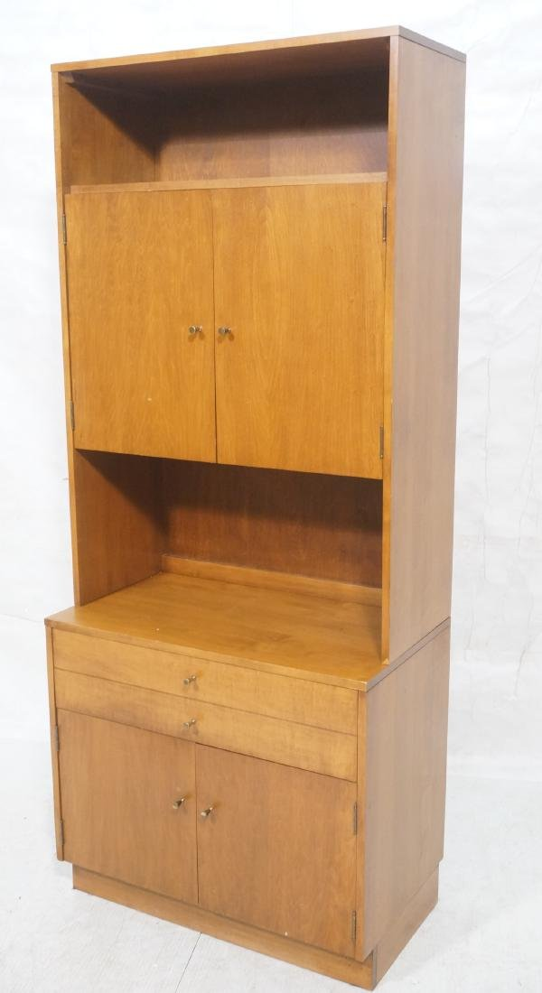 2 part PAUL MCCOBB  Hutch Cabinet. Lower storage