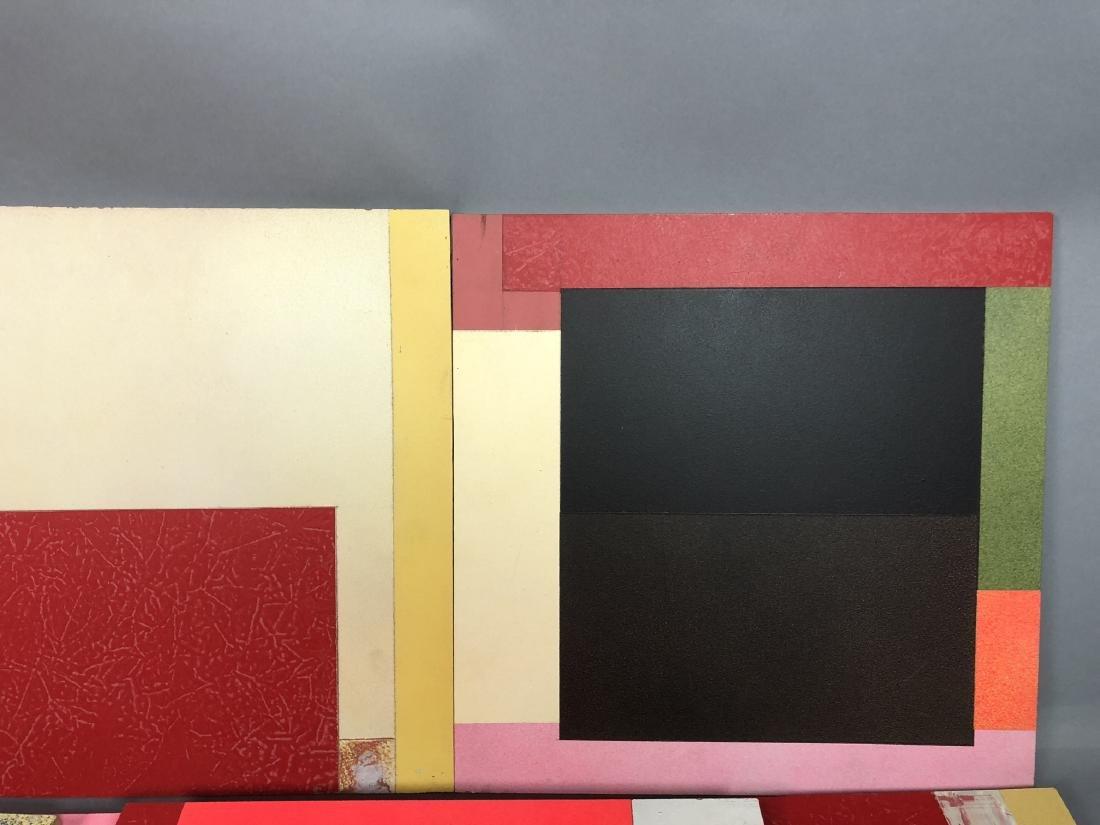 9pc MICHAEL WISE Modernist Art. 9 wood panels wit - 2