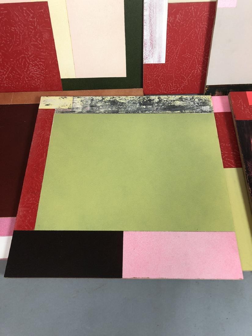 9pc MICHAEL WISE Modernist Art. 9 wood panels wit - 4