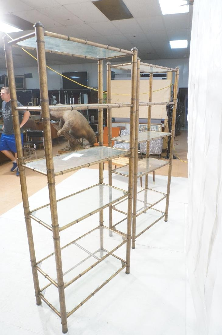 Pr Faux Bamboo Metal Etagere Display Units. Antiq - 10