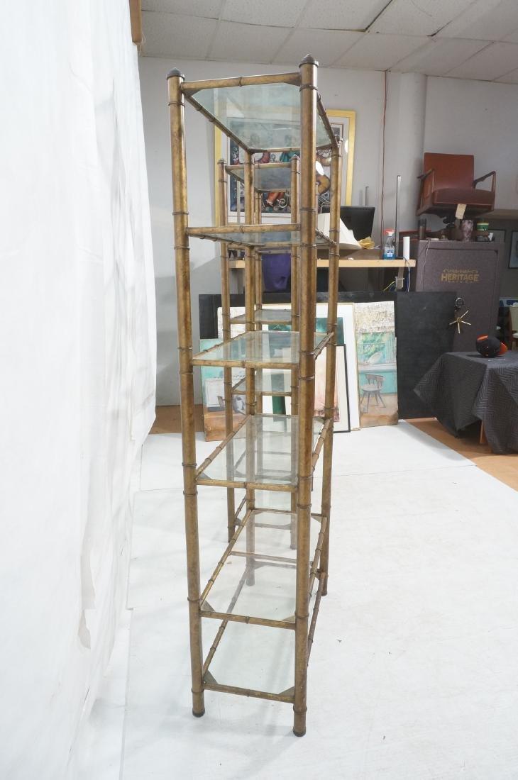 Pr Faux Bamboo Metal Etagere Display Units. Antiq - 4