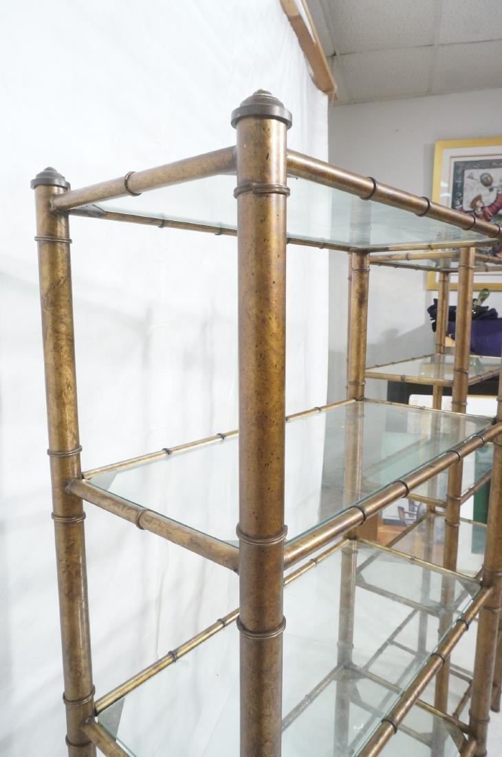 Pr Faux Bamboo Metal Etagere Display Units. Antiq - 5