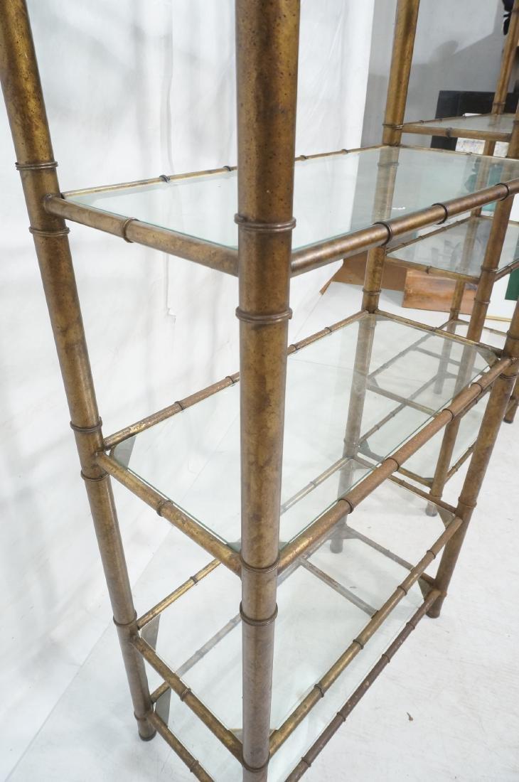 Pr Faux Bamboo Metal Etagere Display Units. Antiq - 6